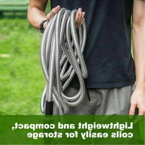 High Stainless Garden Hose Pipe 50/75/100FT