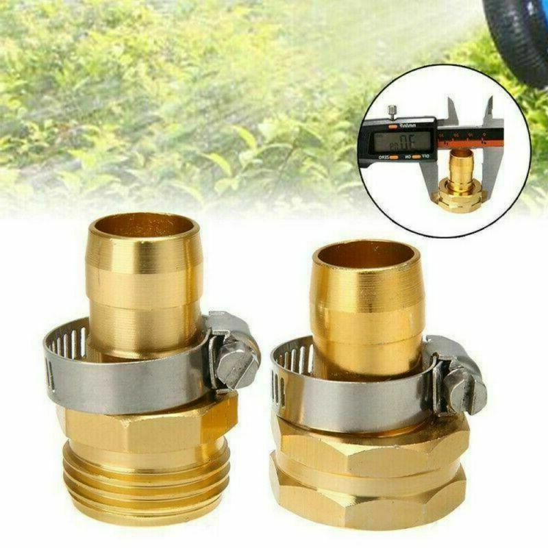 home garden hose repair connector w clamps