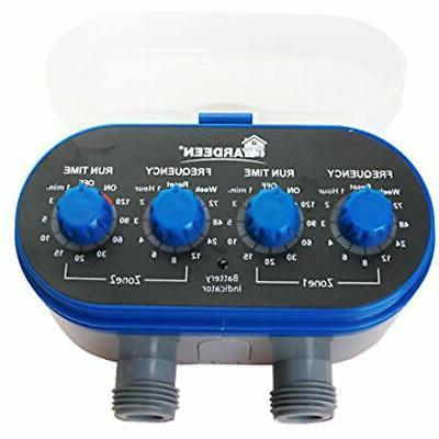 Hose Timers Dual-Valve Water Sprinkler Valve,