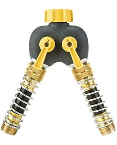 kink free 2 way garden hose splitter
