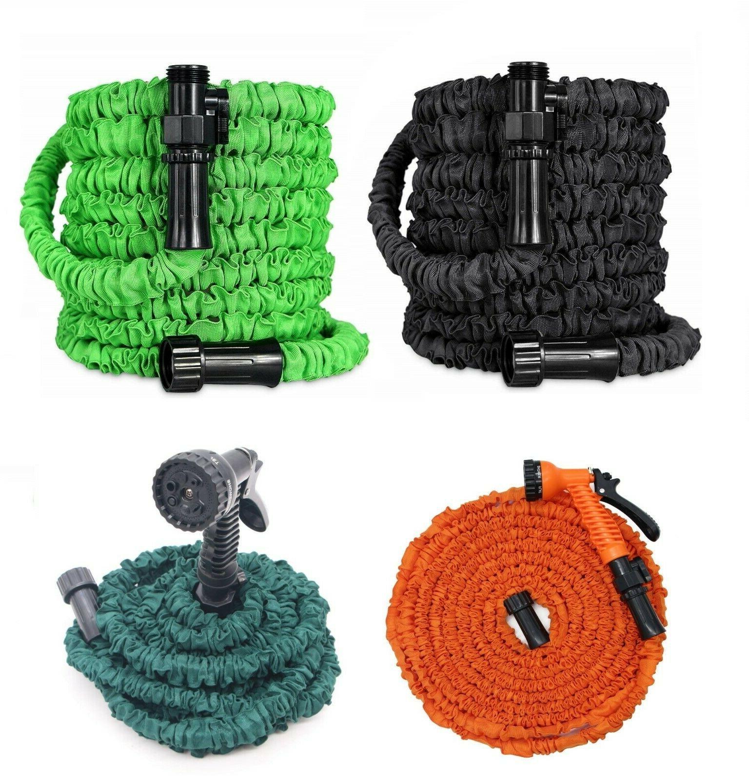 latest deluxe expandable flexible garden hose spray