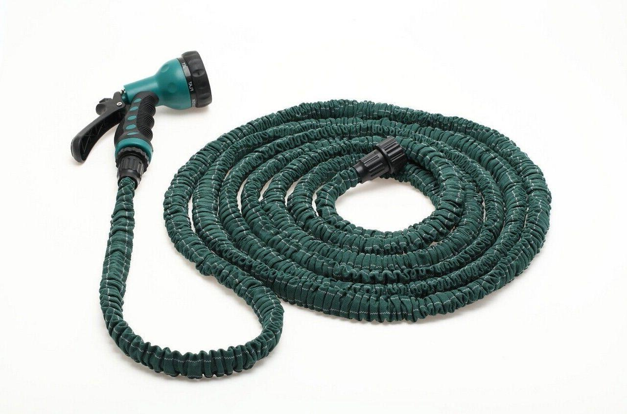 Latex 25 100 FT Garden Water Hose with Spray Nozzle