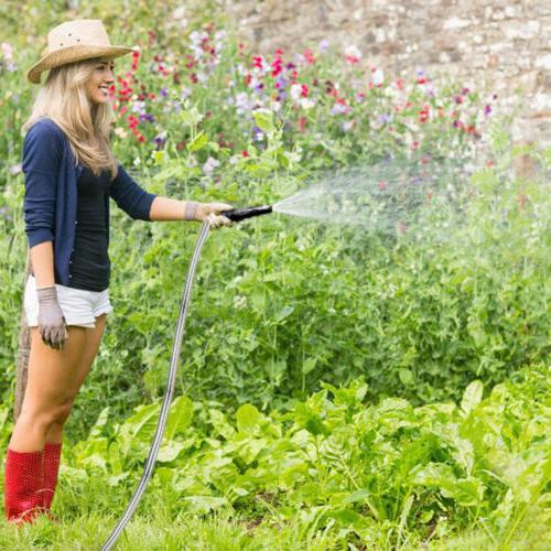 25 Metal Garden Water Watering Pipe Flexible Washing