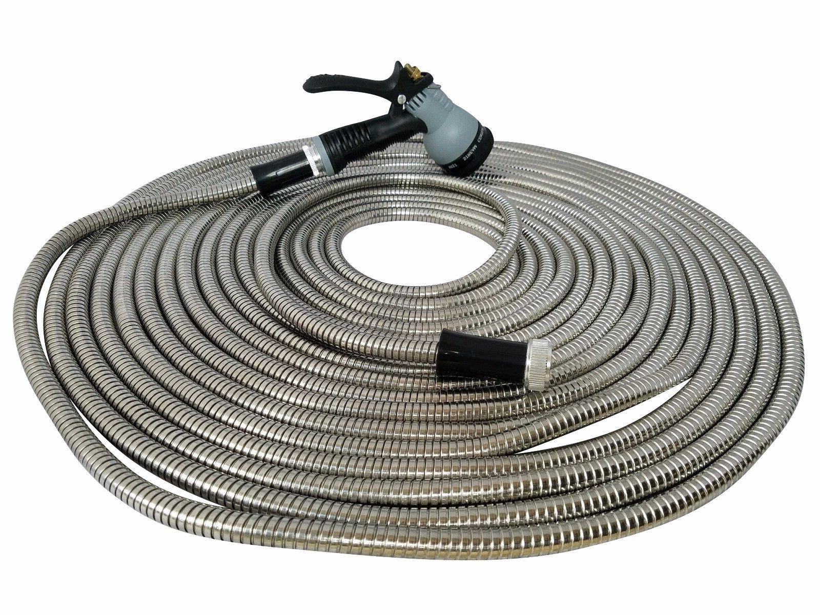 metal garden hose 50 ft stainless steel