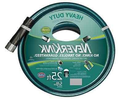 New Neverkink 25 ft x5/8 in. dia. Water Garden Hose Heavy Du