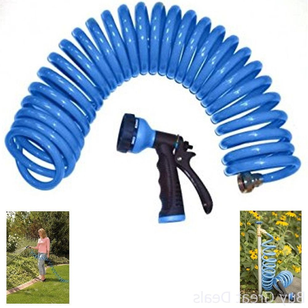 Nozzle Hose Water Spray Set 6 Pattern Watering Coil Wash Car