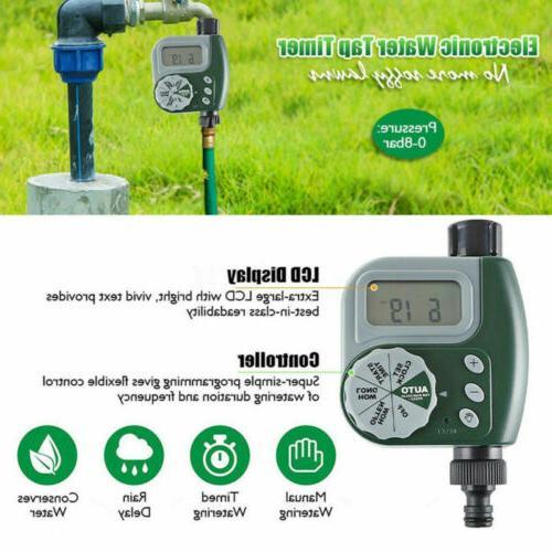 Outdoor Irrigation Watering Controller Solenoid Timer US