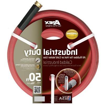 Apex Premium Industrial Rubber Red Hot Water Garden Hose 5/8