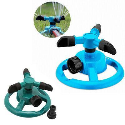 sprinkler lawn circle rotating water garden hose