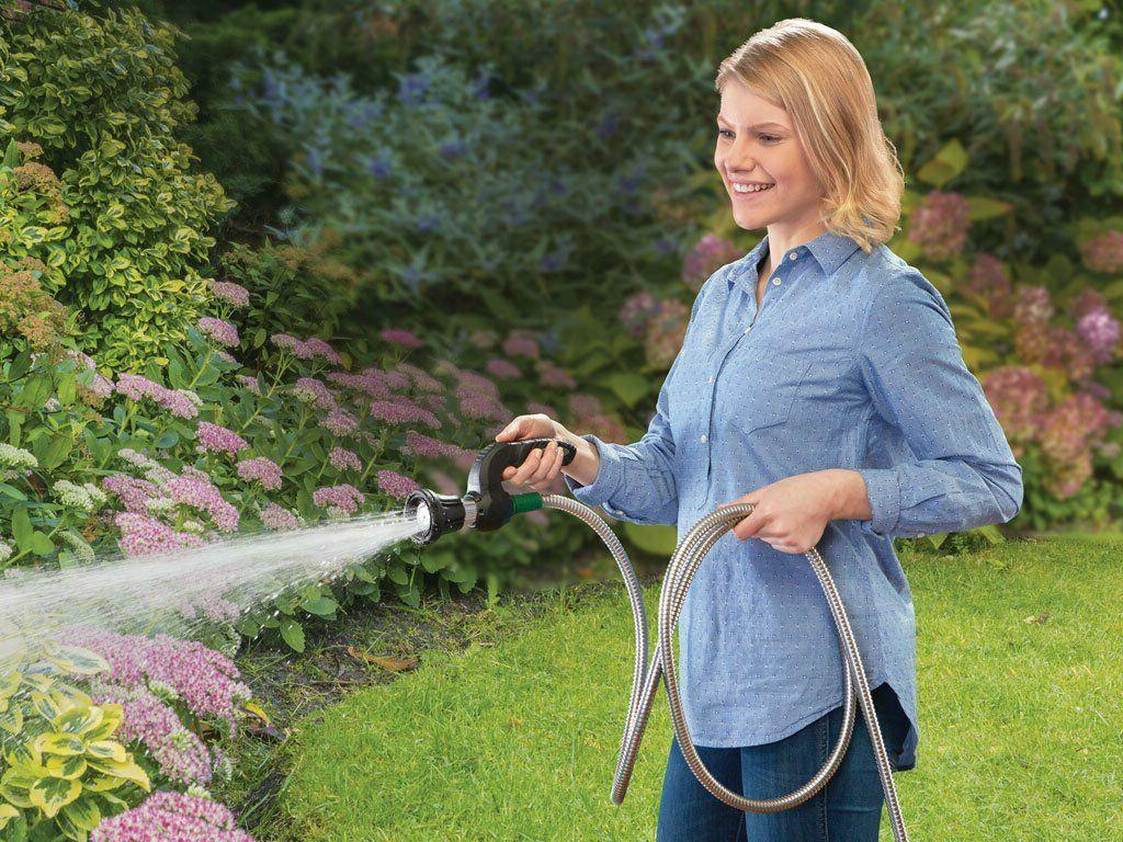 Stainless Garden Heavy Duty With Reel Feet NO KINK