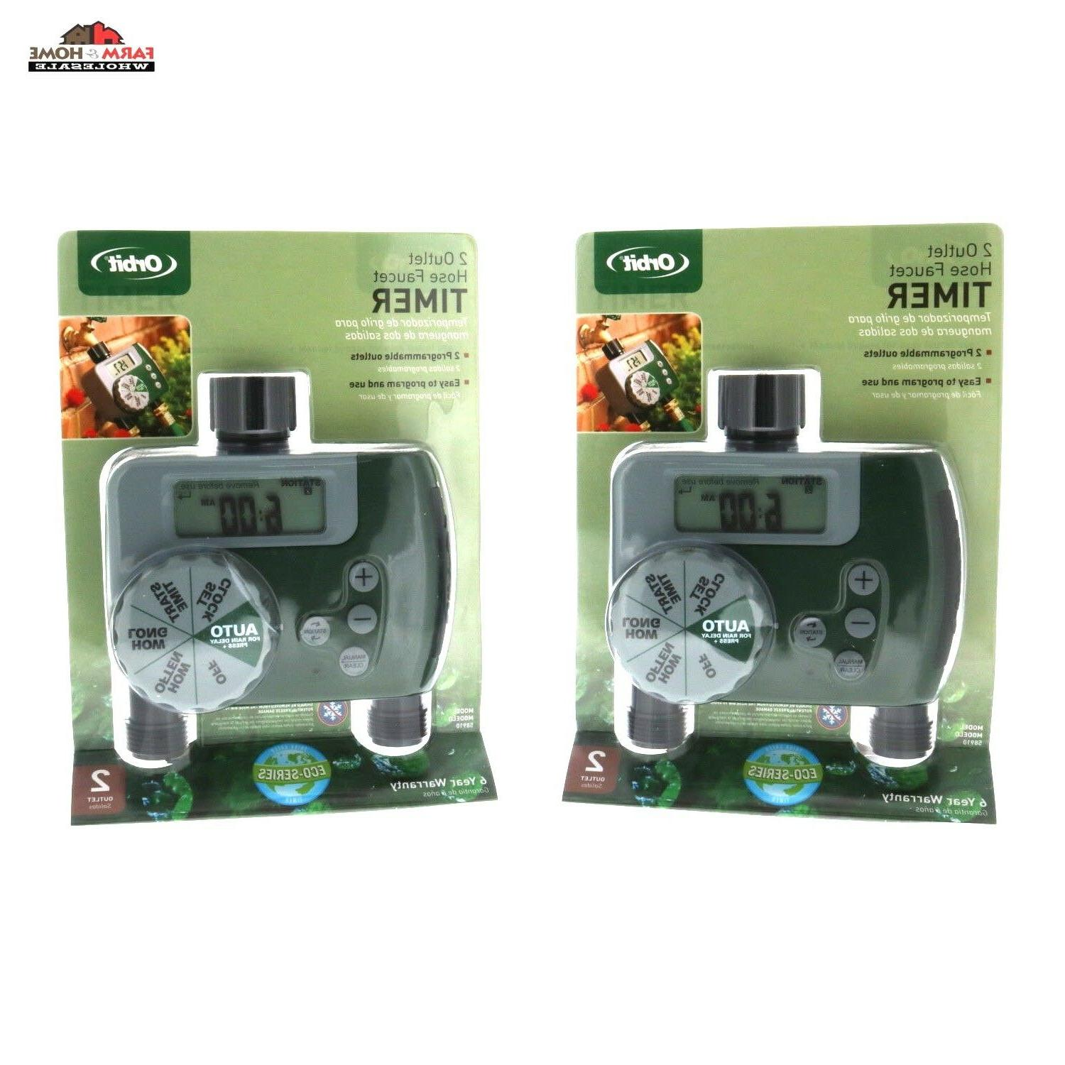 two hose faucet water timer