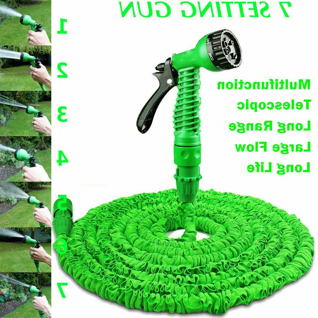 USA Expandable Flexible Garden Water Hose w/ Spray Nozzle