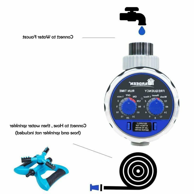 Water Electronic Sprinkler Garden Two Dial