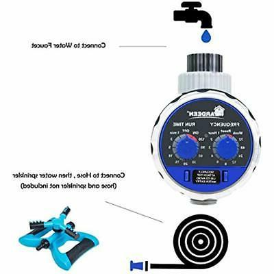 Water Timer Electronic Hose Sprinkler Garden Irrigation Controller Two Blue