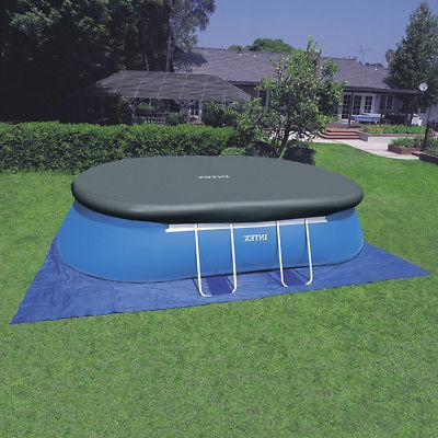 "Intex x 42"" Oval Swimming Set with Pump, Ladder, and"