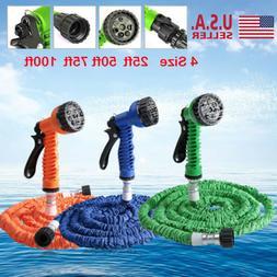 Latex 25 50 75 100 FT Expanding Flexible Garden Water Hose w