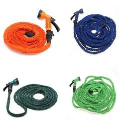 Latex 25 50 75 100 FT Expanding Flexible Garden Water Hose w