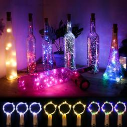 5/20/30 PCS LED Warm Cold Wine Bottle Cork Shape Night Fairy