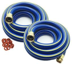 KAPOK 15FT Leader Hose Garden Hoses with Brass Fitting Conne