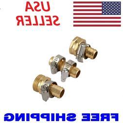 "Metal 5/8"" Brass Garden Hose Repair Mender Kit Male Female W"