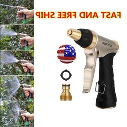 Metal Garden Hose Nozzle Water Sprayer Gun +Brass Connector