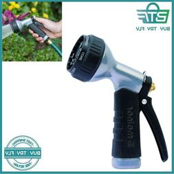 Metal Multi-Pattern Water Hose Nozzle Spray Mid-Size Garden