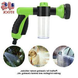 Multi-Functional Car Wash Brush Foam Gun Garden Hose Nozzle