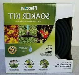 New Flexon Circular Water Soaker hose Kit 20 pc. 100 ft. Lan