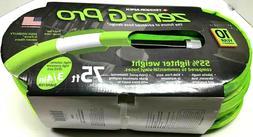 "New Zero-G Pro Garden Hose 3/4"" x 75', Green Teknor Apex Tru"