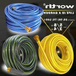 NON KINK FLEXIBLE GARDEN WATER HOSE 25 50 75 100 Feet 5/8 In