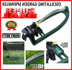 Oscillating Lawn Sprinkler Garden Watering 3,400 Ft Metal Me