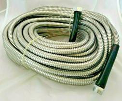 Premium 304 Stainless Steel Metal Garden Hose - 100FT