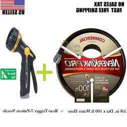 NEVERKINK PRO 5/8 in. Dia x 100 ft Water Hose  & Rear-Trigge