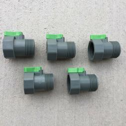 PVC Garden Hose Water Shut Off Ball Valve Nozzle Threaded Lo