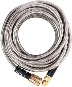 Quality Source Products 50' Metal Garden Hose By Qsp, Stainl
