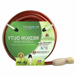 Red Garden Hose Medium Duty Rubber/Vinyl 5/8 In. X 100 FT Me