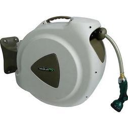 65' Retractable Hose Reel with 8 Spray Pattern Nozzle