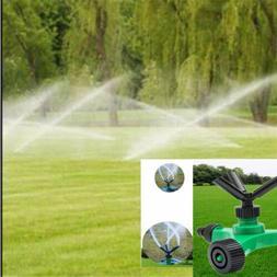 Rotary Impulse Lawn Sprinkler Garden Grass Watering System W