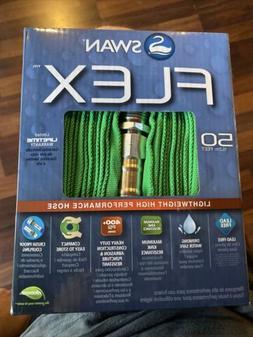 "Swan SNUFG12050 Green Flex Garden Hose, 1/2"" x 50'"