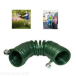 Plastair Springhose Coil Garden Hose Recoil Water Lawn 25-Fo