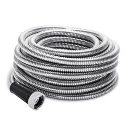 Stainless Steel Metal Garden Hose Water 50/75/100FT Flexible