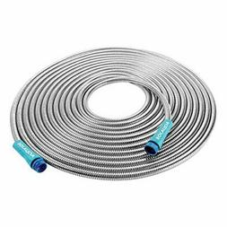 Sun Joe Stainless Steel Metal Hose 25-Foot Spiral Outdoor Ga