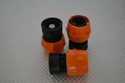 TWO NEW GARDEN HOSE FEMALE QUICK DISCONNECT ORANGE / BLACK 1