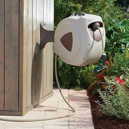 Wall Mountable Retractable Hose Reel Outdoor Watering Equipm
