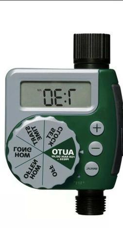 Water Timer For Gardening. One Dial Garden Hose Digital Wate