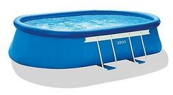 "Intex 18' x 10' x 42"" Oval Frame Swimming Pool Set with Pump"